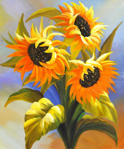 Art wall Modern Sunflower Floral oil painting HD Printed on Canvas Home Decor