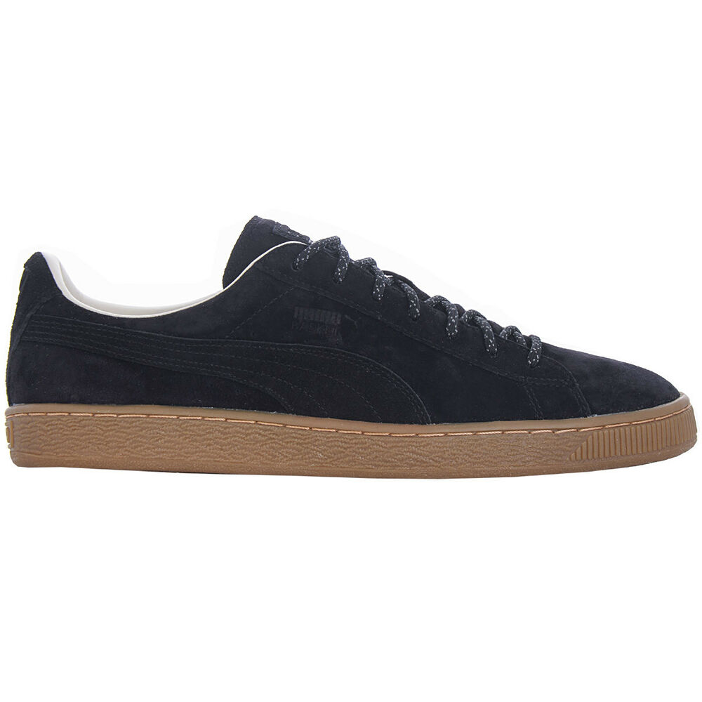 Puma Basket Classic Winterized Chaussures Noir Hommes Cuir Sneaker NEUF 361324-02-