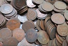 (50) FIFTY Mostly G+ 1800 & 1900 Indian Head Penny Rolls - CN Coins Included!