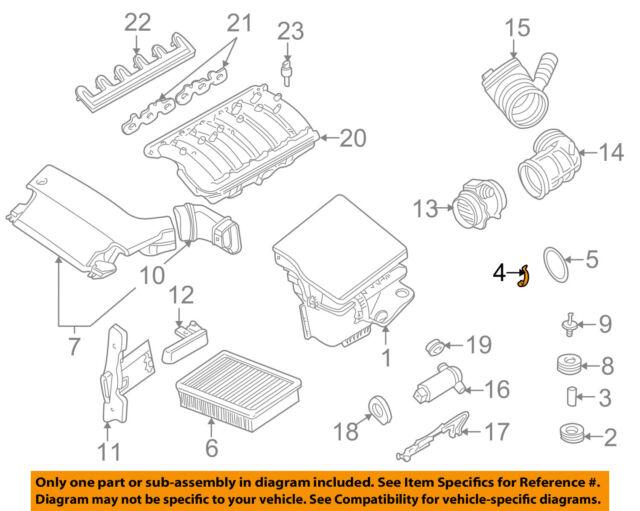 Genuine BMW 259E 259R Air Mass Sensor Clip-Air Filter Housing OEM 13711707044