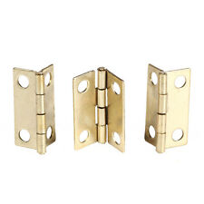 Brass color 10pcs Iron Mini Cabinet Drawer Butt Hinge Home Cabinet Hardware