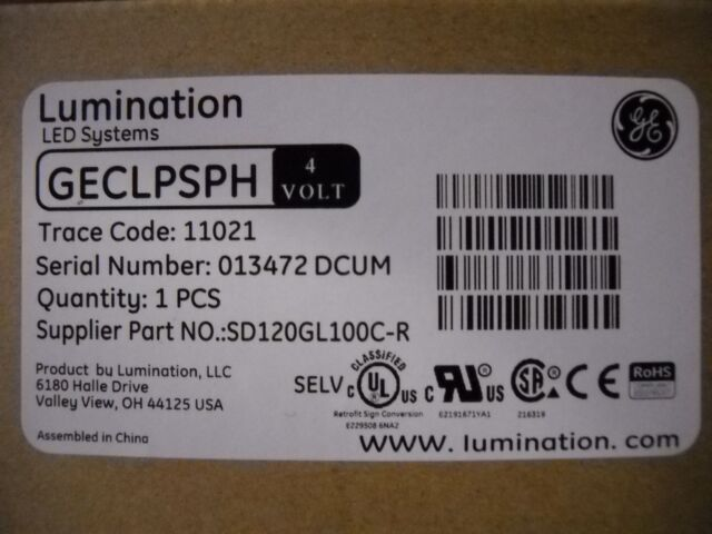 GE Lumination LED Systems GECLPSPH 4 Volt Driver / Power supply / FREE SHIPPING