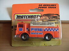 Matchbox Auxiliary Power Truck in Orange on blister
