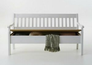 Sitzbank 169cm Holz Kiefer massiv 2farbig weiß gelaugt Küchen Bank ...