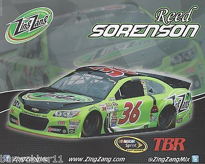 "2014 REED SORENSON /""ZING ZANG/"" #36 TOMMY BALDWIN NASCAR SPRINT CUP POSTCARD"