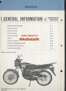 Genuine-Honda-MBX-50-S-AC05-1983-gt-Supplementary-Manual-Addendum-MBX50S-AZ95