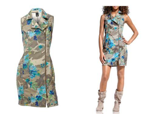 HEINE B.C.-Mega trendy Etui-Kleid-Camouflage-2-Wege-Zipper-oliv/türkis-Gr.36-42