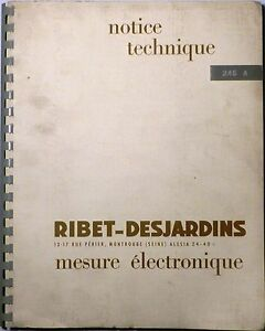 Documentation-de-l-039-oscilloscope-Ribet-Desjardins-type-245-A-de-1962-Rare