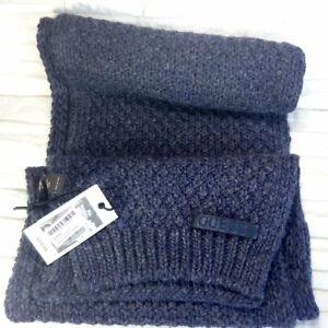 nuovo stile 12441 75804 Dettagli su Guess Los Angeles sciarpa uomo Men's collection sciarpa grande  blu