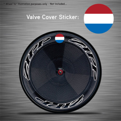 VCS041 - 6x Netherlands Flag Disc Wheel Valve Covers/Patches Zipp Hed Corima