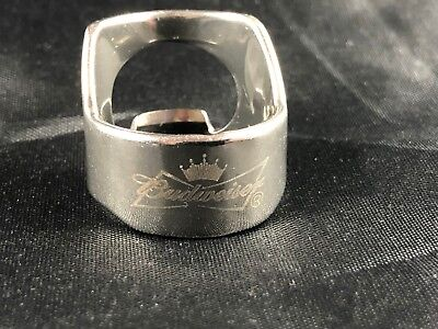 Budweiser Beer Bottle Opener Ring Stainless Steel Engraved Bar Tool Catalogi Worden Op Verzoek Verzonden