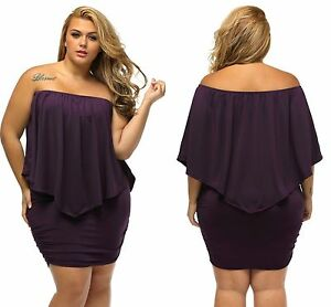 e270558551aa Image is loading Ladies-Purple-Lagenlook-Plus-Multiple-Dressing -Layered-Mini-