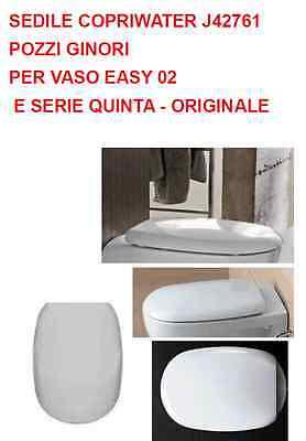 Pozzi Ginori Sedile Copriwater Per Vaso Easy 02 Quinta Originale J42761 Ebay