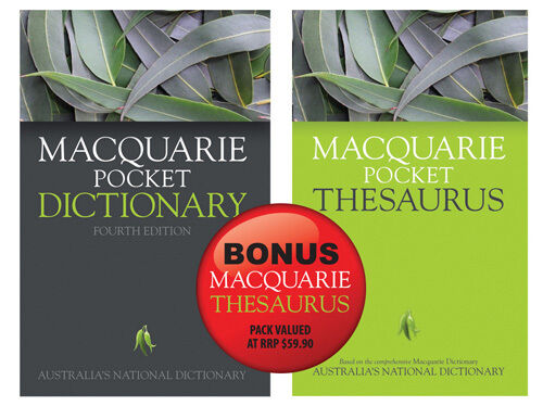 MACQUARIE POCKET DICTIONARY BONUS THESAURUS 2 books 4th Ed BNew