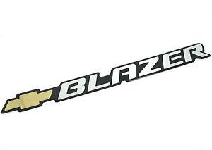 Details About Genuine New Chevrolet Blazer Badge Emblem Pick Up K5 Zr2 S 10 Lt 4x4 Chevy