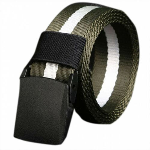 High Quality Mens Belt No Metal Plastic Buckle Canvas Belts Casual Jeans Belt