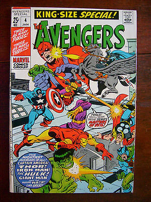 Avengers Annual #4 1971 Marvel King Sz Special Zemo IronMan Bronze Silver7.5 VF-