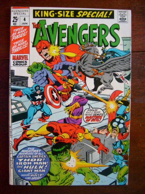 Avengers Annual #4 1971 Marvel King Size Special Zemo Iron Man Bronze/Silver VF-