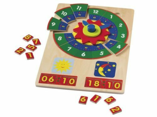Telling the Time Puzzle Clock Kids/' Wooden Learning Playtive Junior