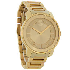 NEW Movado BOLD 3600197 Swiss Gold Watch Champagne Crystal Dial 39mm Unisex