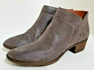 6212c40b9d392 Details about Lucky Brand Brintly Zipper Grey Storm Leather Ankle Boots  Booties - SIZE 11