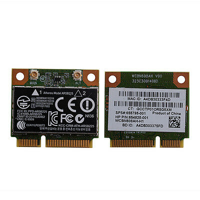 655795-001 654825-001 AR5B225 802.11bgn Bluetooth Wireless Mini PCIE Card for HP