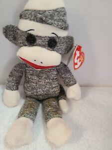 Ty Beanie Babies Socks the Sock Monkey 2010 With Tag