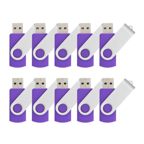 10 Lot Swivel USB Flash Drive 1GB Pen Drive Memory Stick Thumb Storage USB 2.0