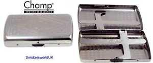 Cigarette-Case-Champ-Small-Chrome-Design-King-Size-NEW-chks1