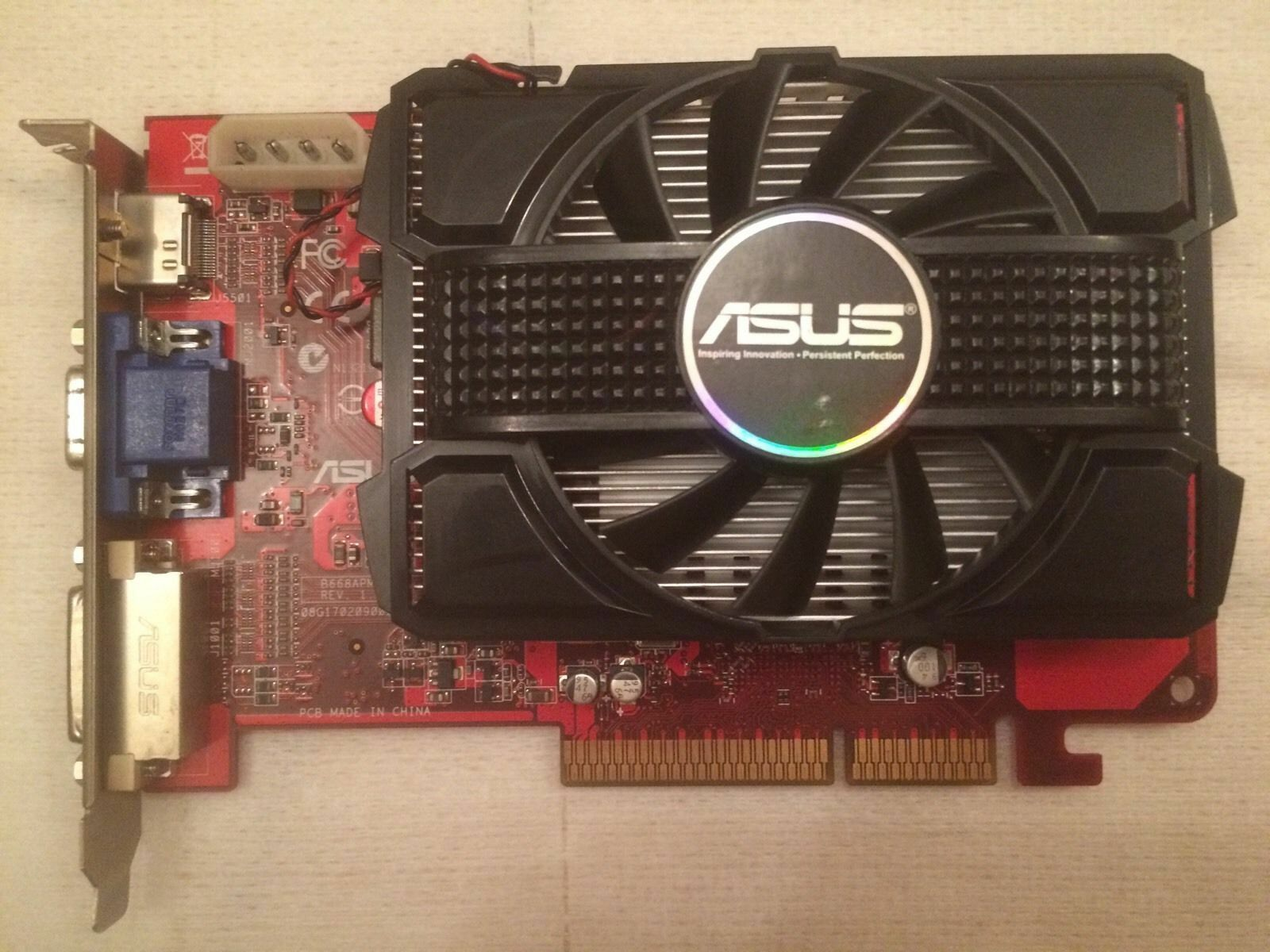 ASUS HD4650 AGP 1GB RARE videocard with HDMI port!!