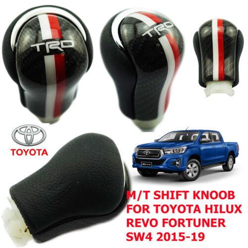 TOYOTA HILUX REVO 2015-19 CARBON KEV-LAR SHIFT KNOB M//T RED-WHITE LINE