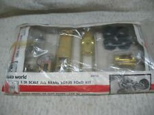 1/24 SCALE VINTAGE 1966 AUTO WORLD BRASS LOTUS FORD SLOT CAR KIT-EXTREMELY RARE!
