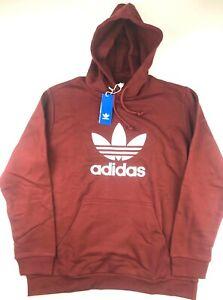 Details about Adidas Originals Mens XL Burgundy Trefoil Warm Up Hoodie Sweatshirt NWT