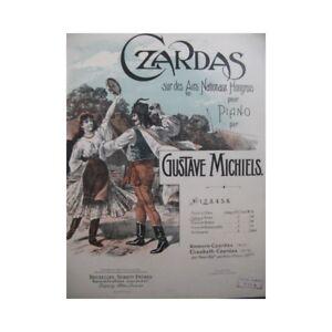 Antiquarische Noten/songbooks Michiels Gustave Czardas Luft Ungarisch Nicht 2 Piano 4 Hand 1903 Partitur Schrumpffrei