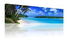 "Panoramic 10"" x 30"" bellissimi Beach Scene Wall Art Foto Su Tela Stampa GRATIS P&P"