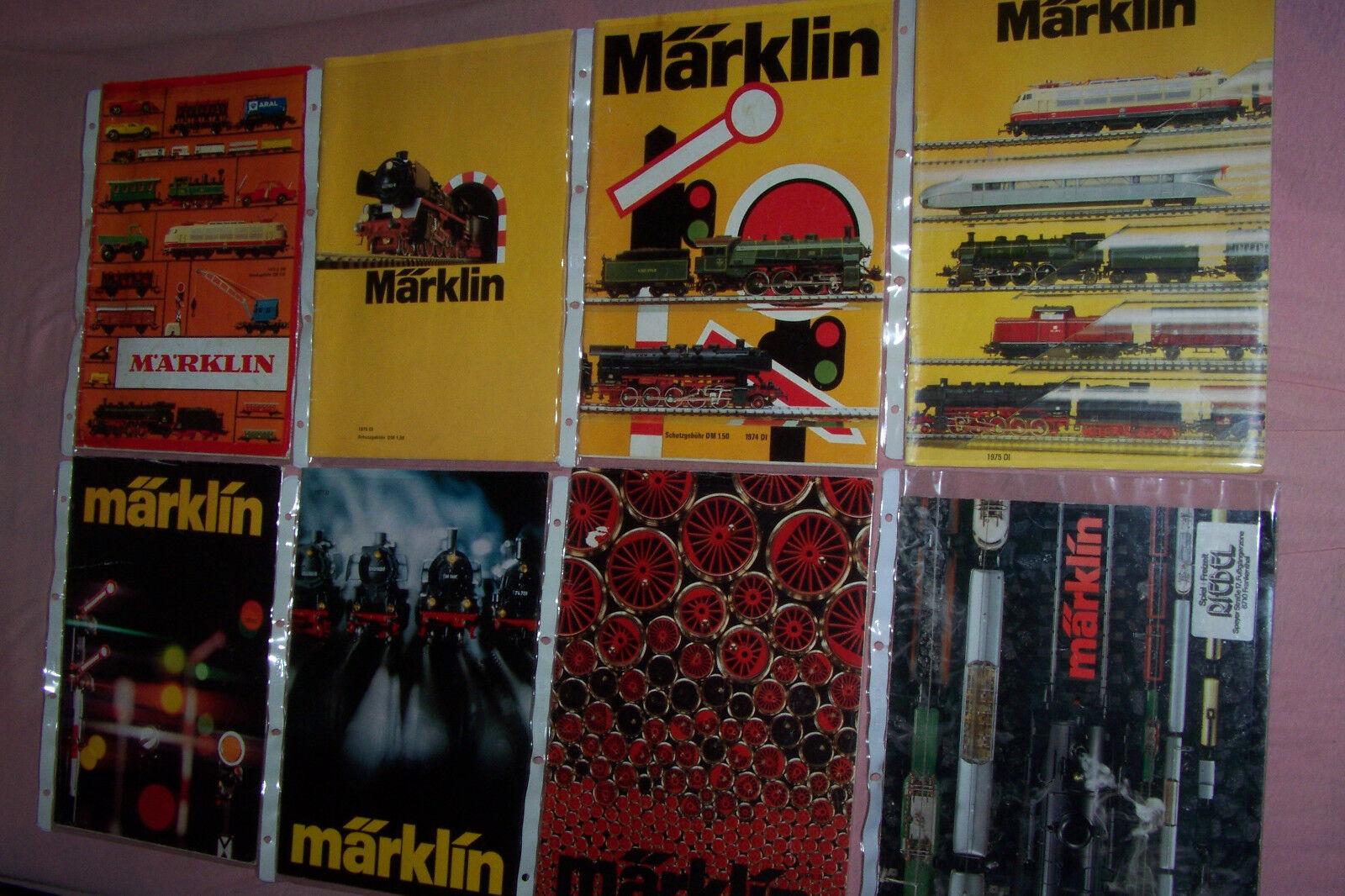 Märklin cataloghi Raccolta lot 1972 1973 1974 1975 1976 1977 1978 1979 listino prezzi
