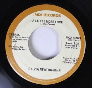 Pop-45-Olivia-Newton-John-A-Little-More-Love-Borrowed-Time-On-Mca-Records