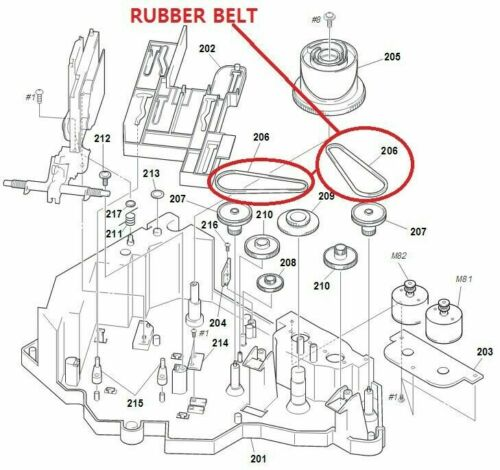 DRIVE Rubber Belt For Sony COMPACT Hi-Fi STEREO SYSTEM CD Music Player Disc
