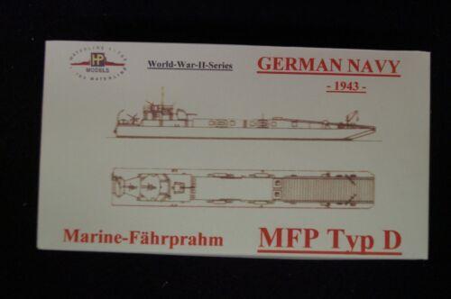 1943 deutsche KM HP Models 1:700 WL  MFP Typ D mit 10,5 cm Geschütz Bausatz