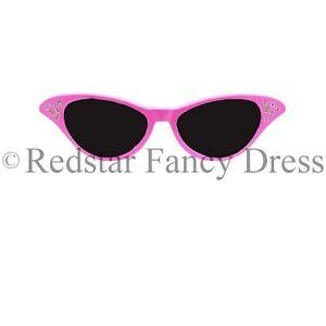 Femmes-Rose-deguisement-lunettes-sable-annees-50-1950-ROCK-ET-ROLL