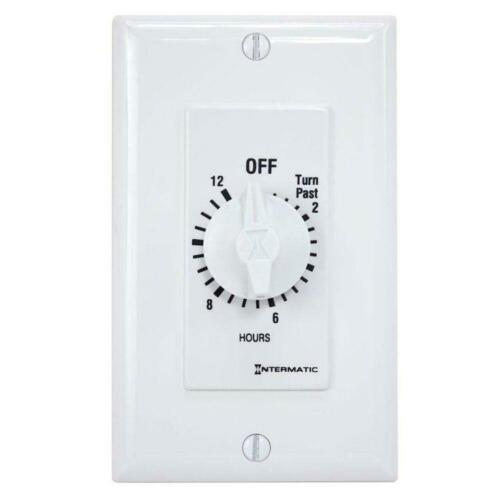 Intermatic Timer Electrical Switch Fan Light Control 20Amp 12 Hour In Wall White