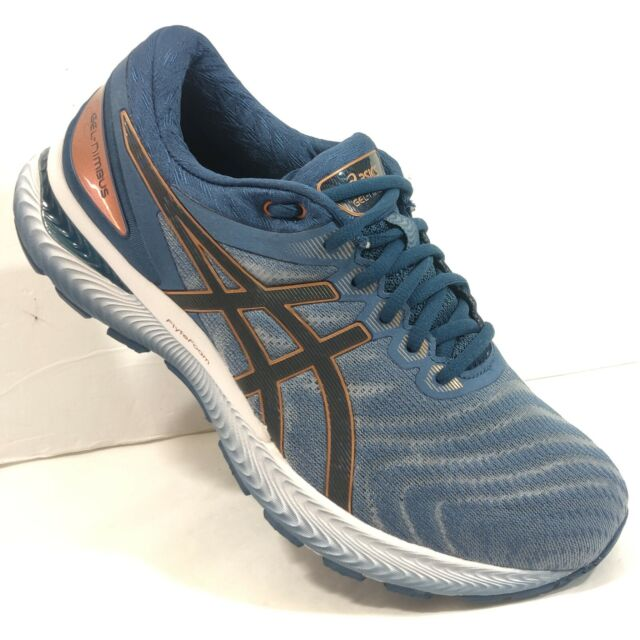 Asics Gel-Nimbus 22 Extra Wide Blue  Gold Mens Running Shoe NEW WITHOUT BOX CE1.
