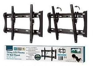 Lloytron-T312S-VESA-75-100-200-Black-LCD-Plasma-TV-Wall-Mount-Tilt-Angle-23-37