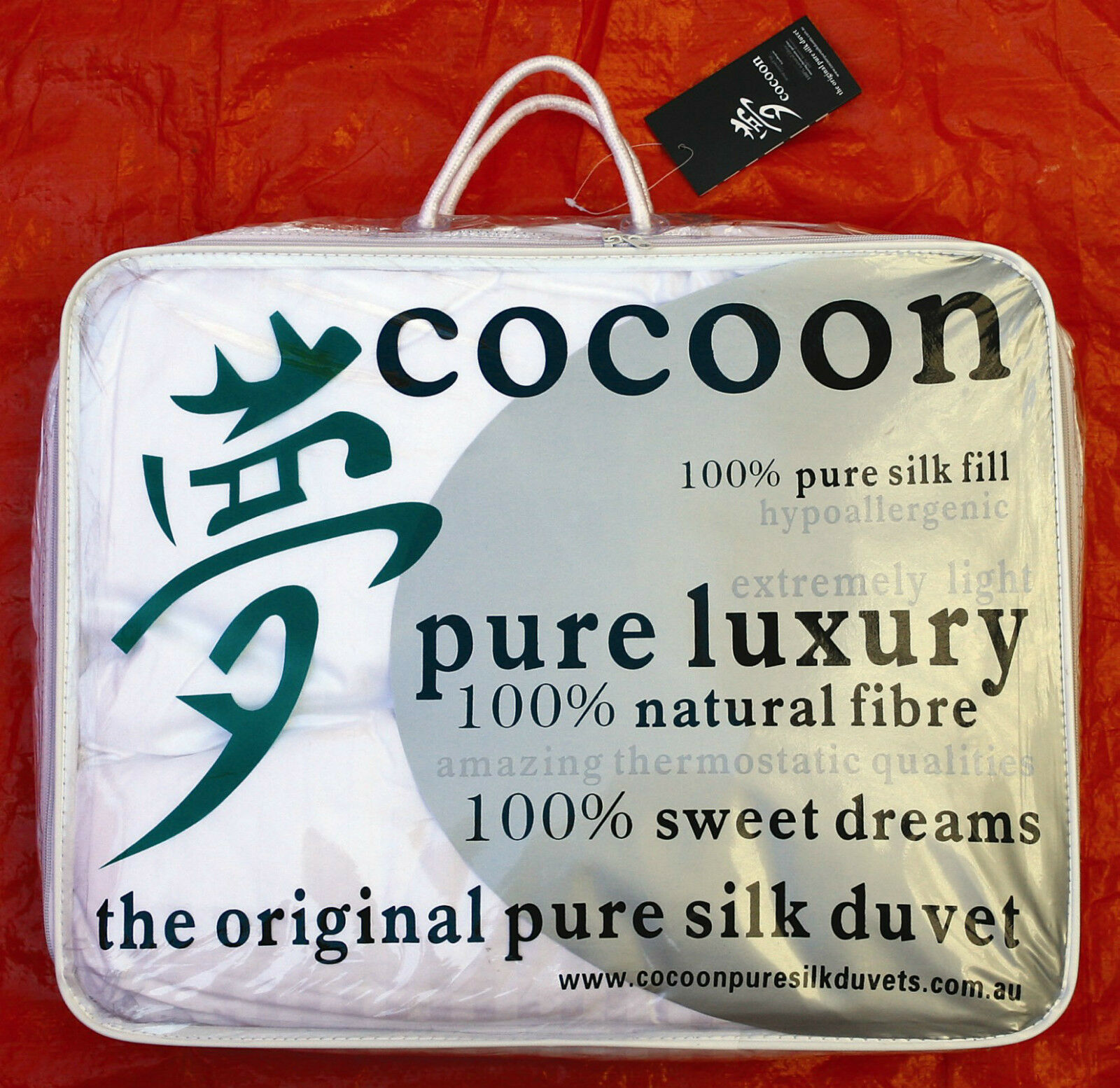 Cocoon Pure Silk Duvet. Winter 2019 Sale  Double All Year Weight Doona.