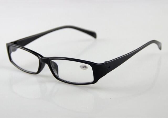 NEW Reading Glasses Men Women Unisex Black Plastic Transparent