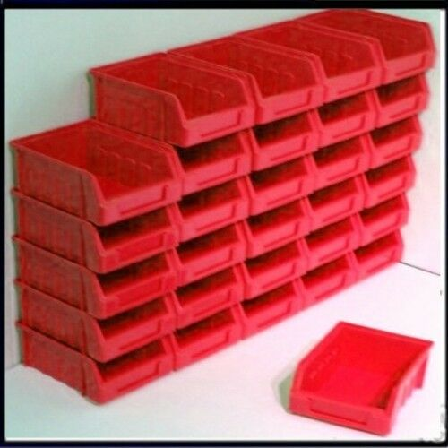30 Size 1 Red Parts Storage Stacking Bin Bins Box Maar Toch Niet Vulgair