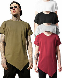 9632f3760f38df Urban Classics Herren T-Shirt extra lang long Shirt Tee asymetric ...