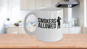 Smokers Allowed Mug Off Broadway Play Gift