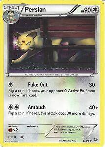 62//98 Common Pokemon XY Ancient Origins M//NM English x4 Persian