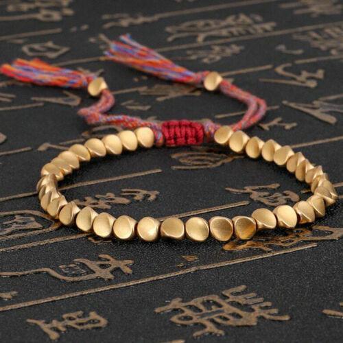 Bracelet en corde de chanceux en coton tressé bouddhiste tibétain fait à la main